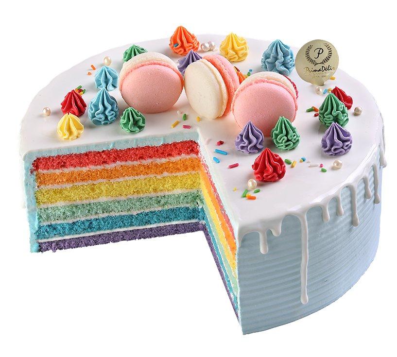 prima deli rainbow fantasy cake