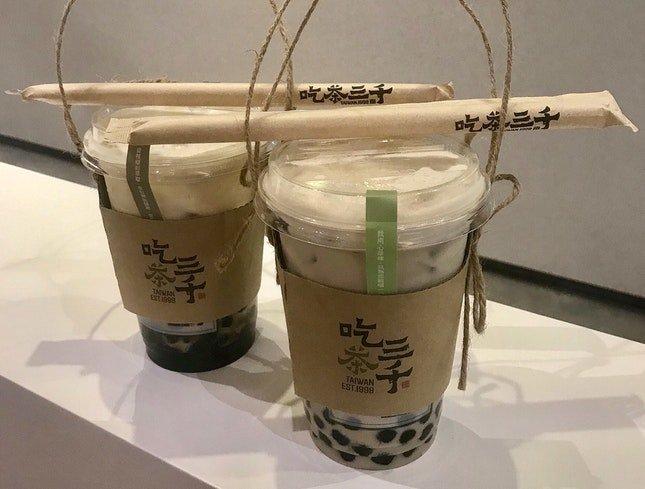 熔岩黑糖波霸鮮奶$5 | 凍頂烏龍珍珠奶茶$4.70