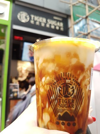 Brown Sugar Boba Milk with Cream Mousse - Picture of Tiger Sugar, Hong Kong  - Tripadvisor