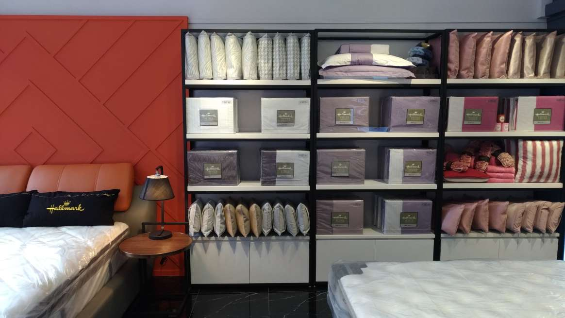 There are more than beddings in our Hallmark Bed showroom
