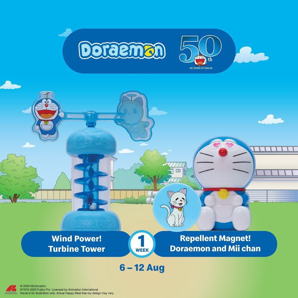 Wind Power! Turbine Tower & Repellent Magnet! Doraemon and Mii Chan
