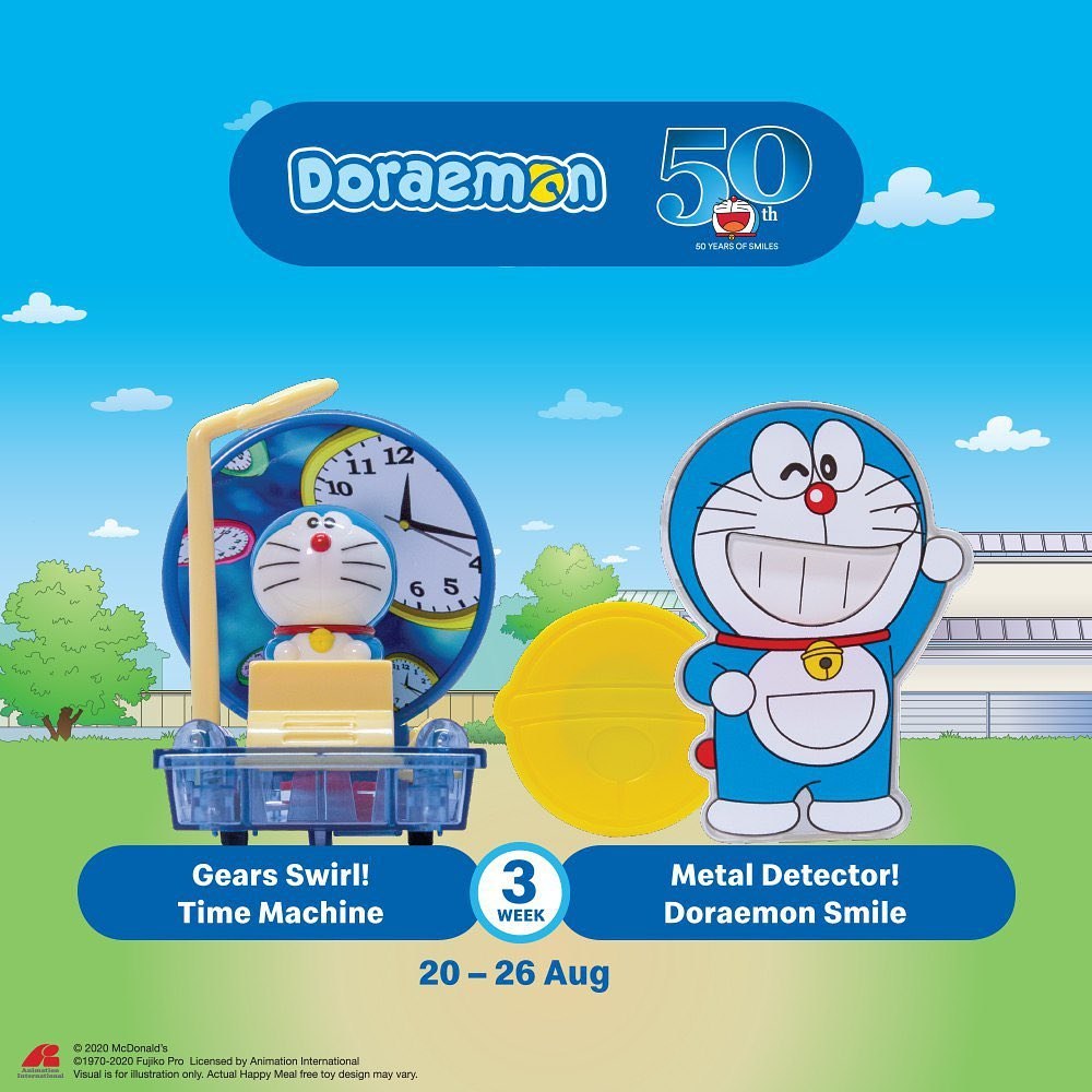 Gears Swirl! Time Machine & Metal Detector! Doraemon Smile