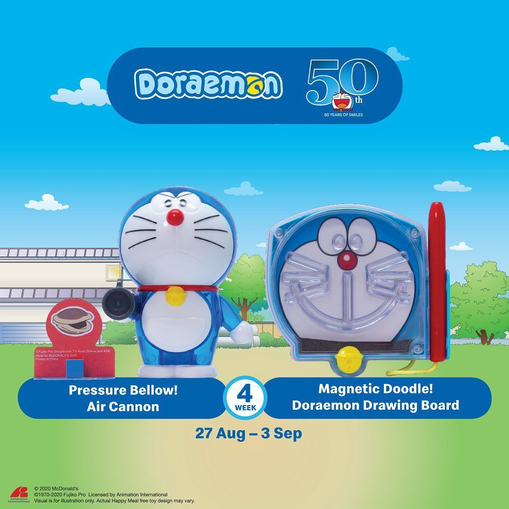 Pressure Bellow! Air Cannon & Magnetic Doodle! Doraemon Drawing Board